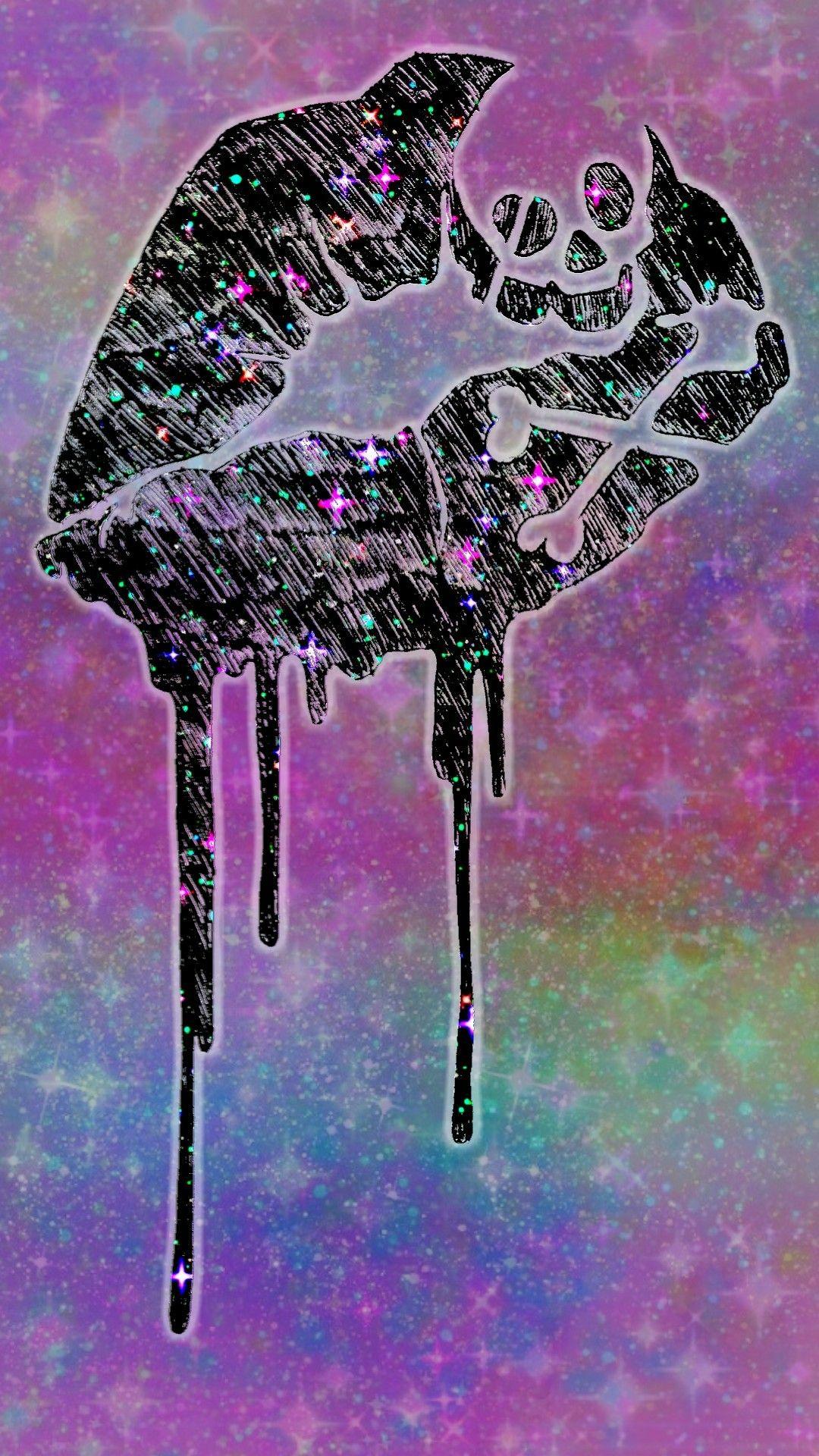 Galaxy Skull Kiss Made By Me Kiss Lips Skull Hipster Skull Artwork Skull Art Skull Wallpaper