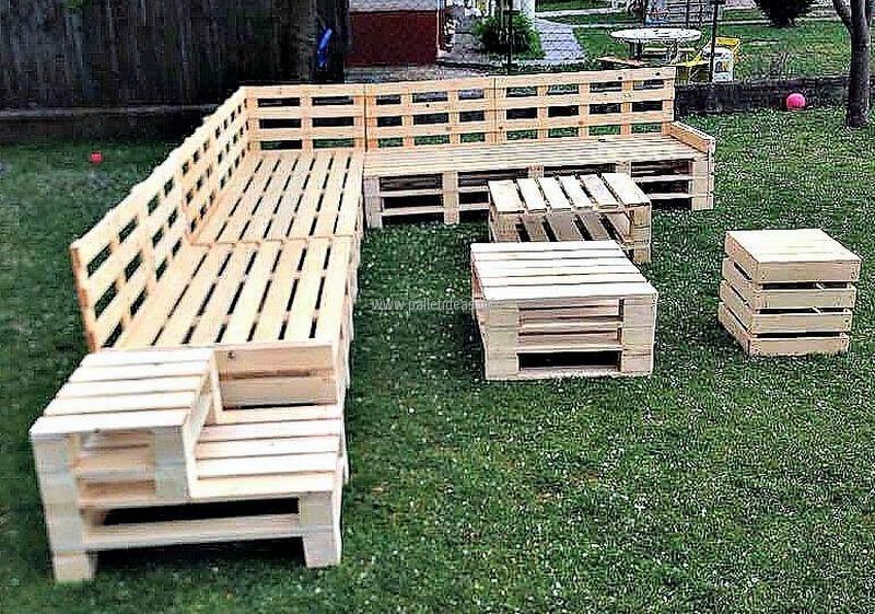 Terrific Recycled Wood Pallet Garden Furniture Diy Pallet Garden Machost Co Dining Chair Design Ideas Machostcouk
