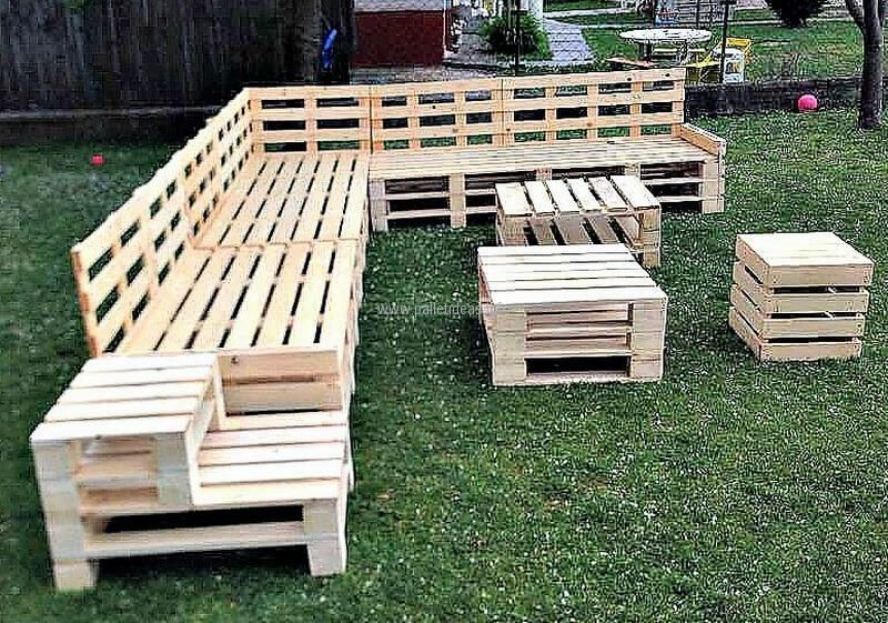 Recycled Wood Pallet Garden Furniture Lawka Z Palet Palety Ogrod