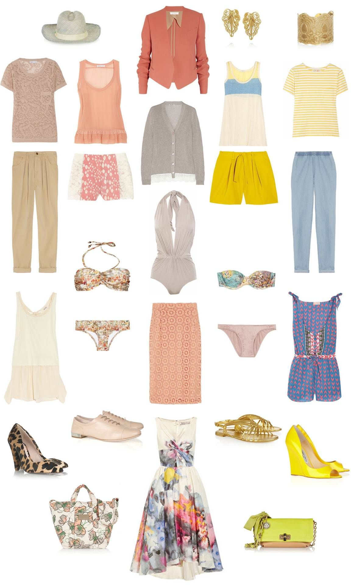 summer holiday fashion packing list | Travel Fashion & Outfit ...