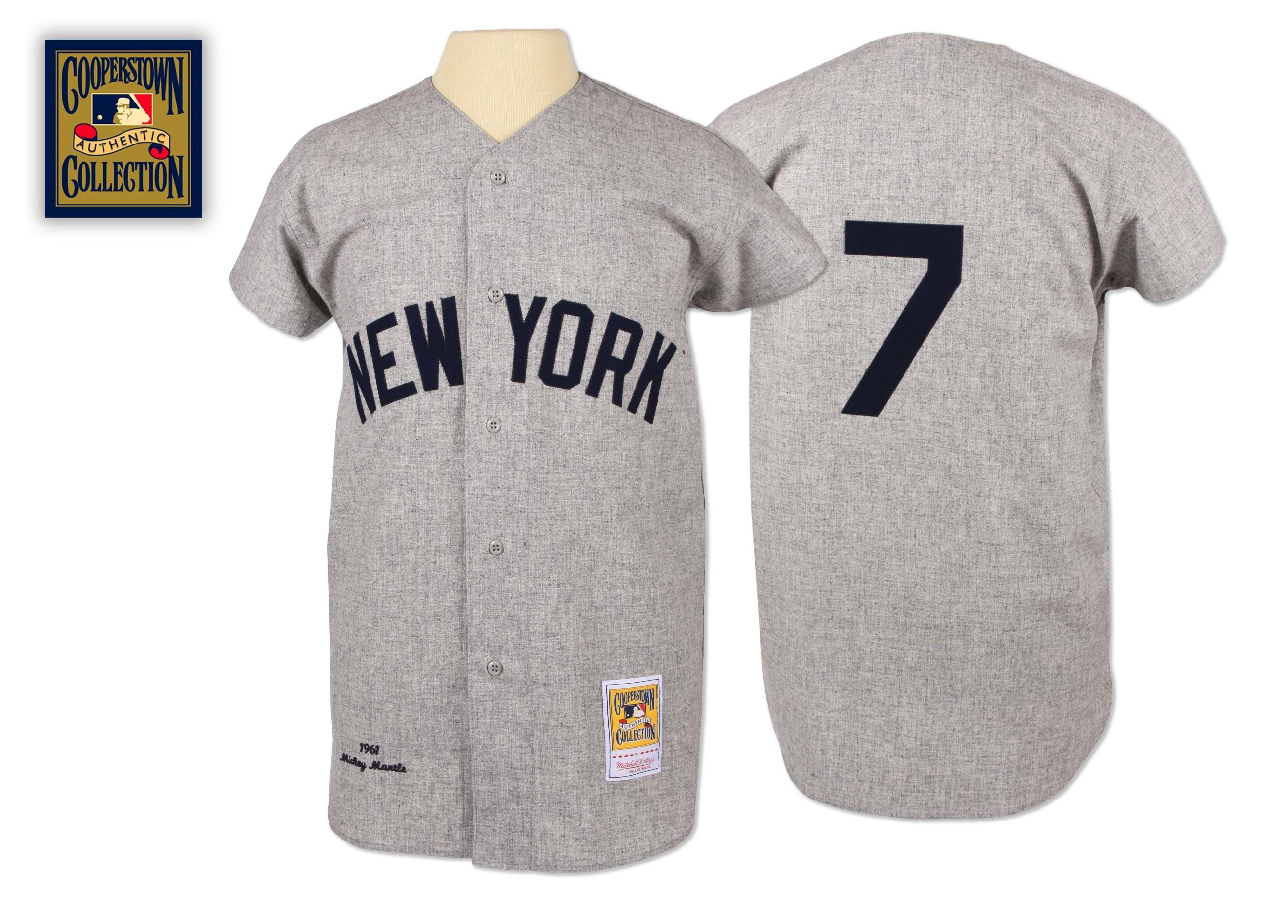 16a6c8a45 Mickey Mantle 1961 Authentic Jersey New York Yankees Mitchell   Ness  Nostalgia Co.