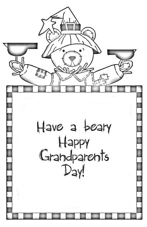 Have a beary lovely Grandparents Day - cute holiday ...