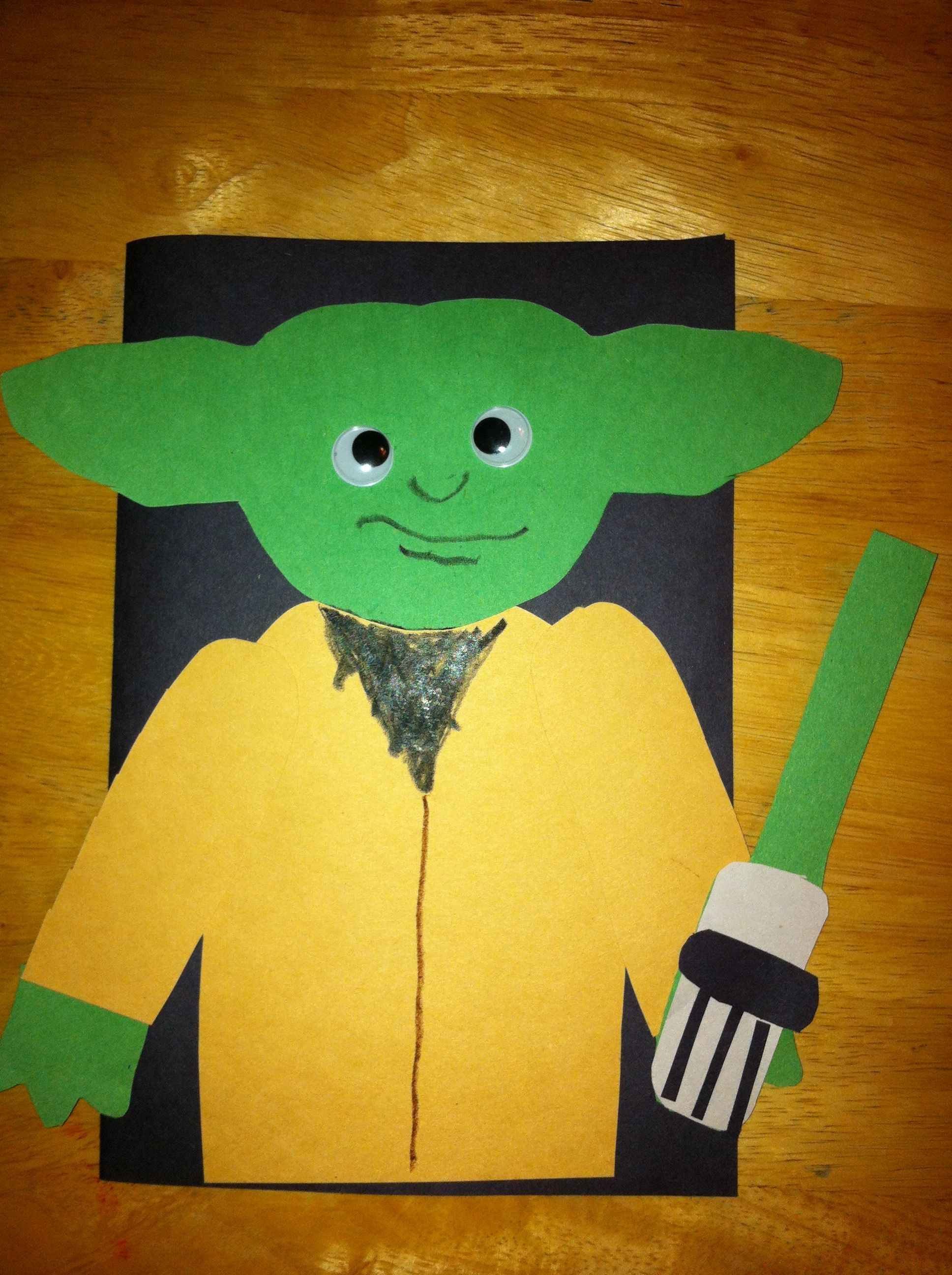 Star Wars Yoda birthday card for Dad made by the kids The kids – Birthday Card for Dad from Kids