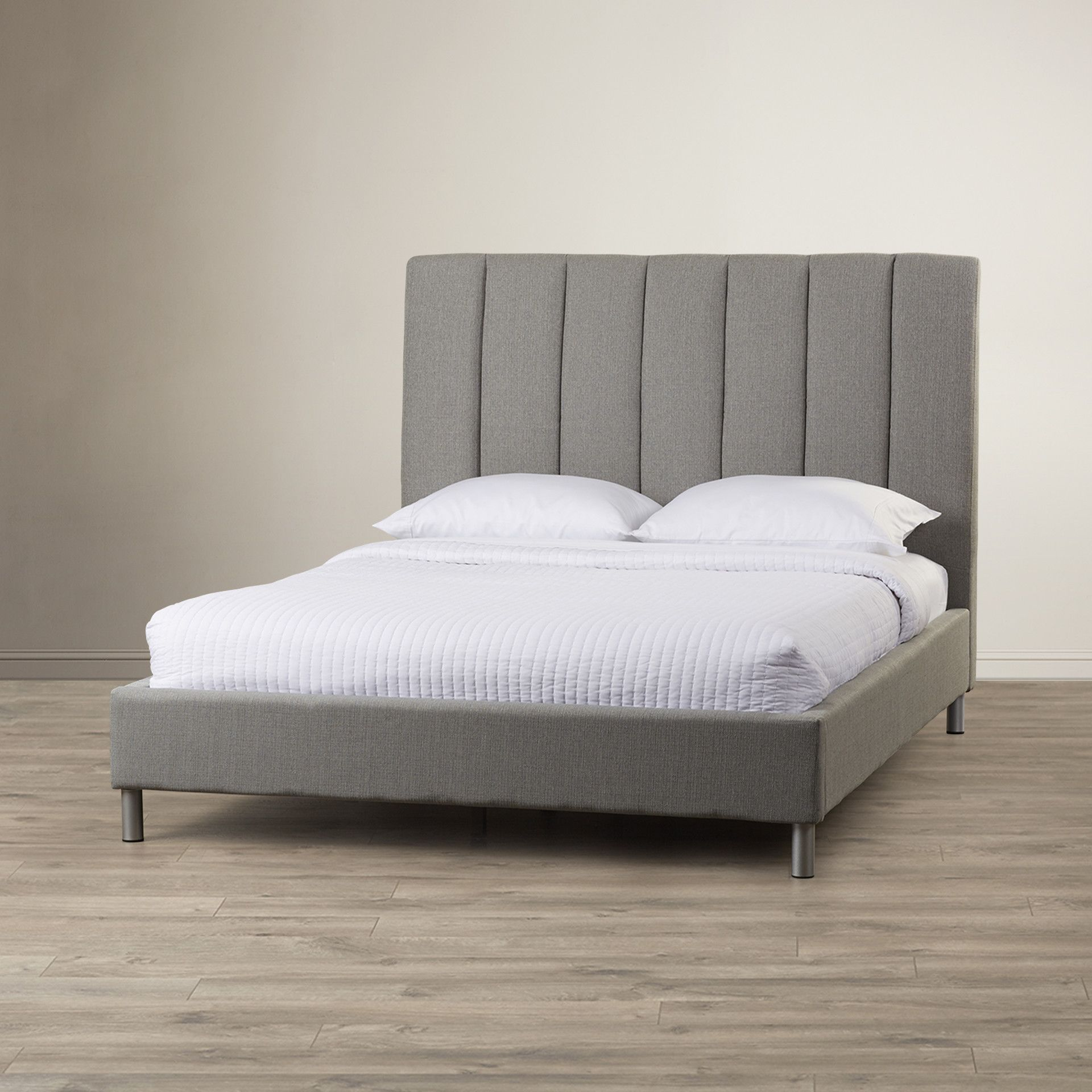 Bay Upholstered Panel Bed Upholstered panel bed, Bed