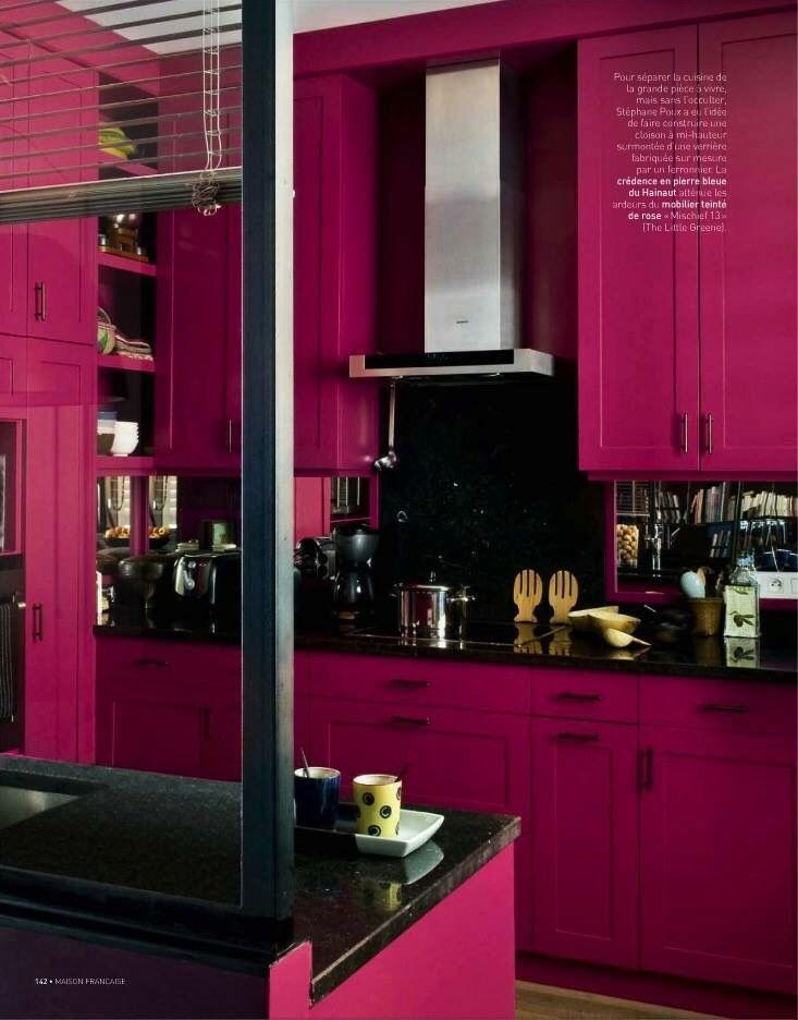 Elegant Pink Kitchen Rose Fuchsia, Color Stories, Hot Pink Kitchen, Kitchen  Sets,