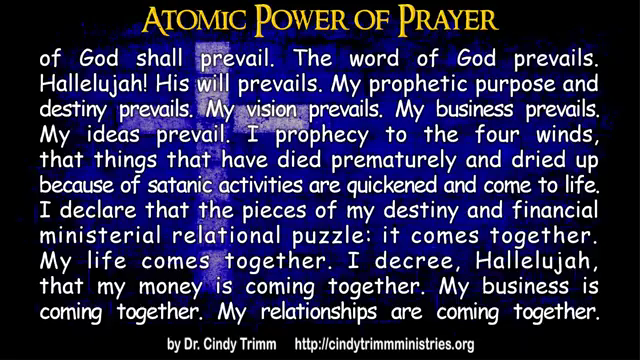 885) TextVideo: Atomic Power of Prayer by Dr  Cindy Trimm