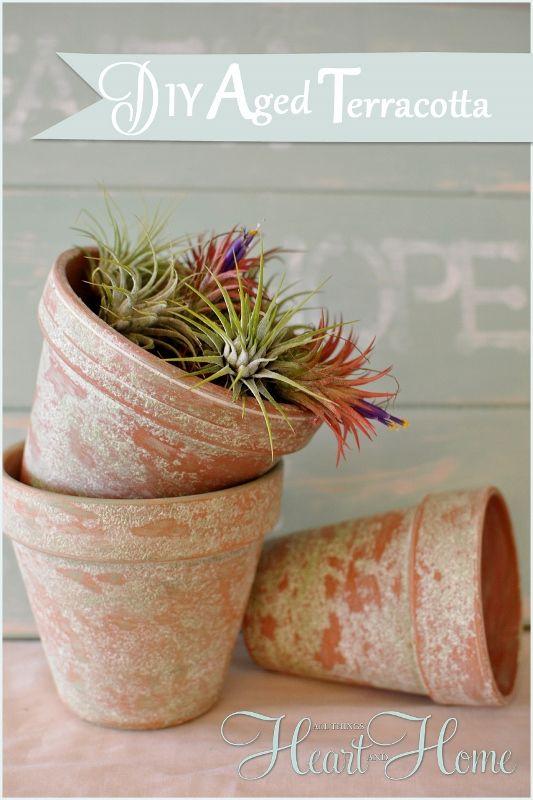 Aging Terra Cotta Pots The Easy Way Aging Terra Cotta Pots Terracotta Pots Terracotta Flower Pots