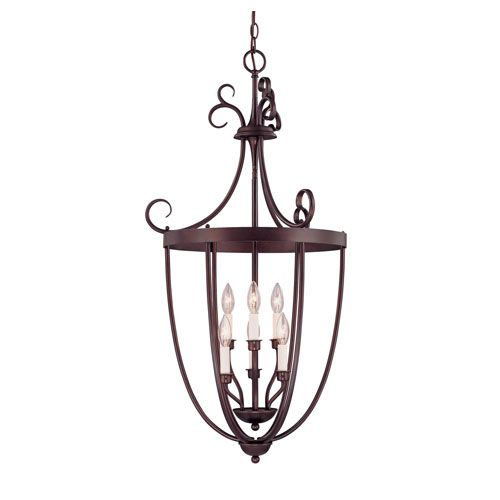 English Bronze Six Light Foyer Lantern Savoy House Lantern Pendant