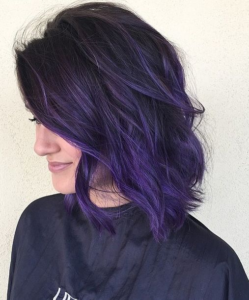 Purple Hair Color Ombre Pinterest Hair Coloring Hair Style