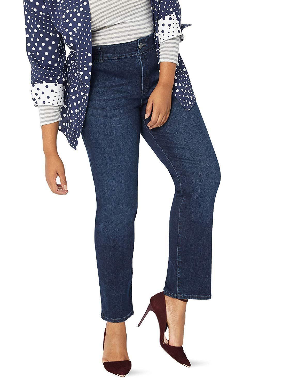 8e9651709de93c LEE Womens Plus Size Flex Motion Regular Fit Straight Leg Jean at Amazon  Womens Jeans store, Amazon Affiliate link. Click image for detail, #Amazon # lee ...