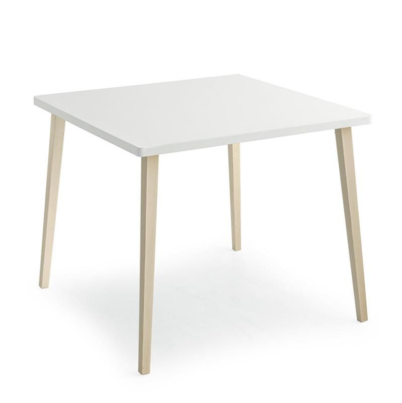 petite table de cuisine scandinave carre plateau blanc et pieds htre hide table de cuisine nordique est pratique par sa taille idale pour les petits - Plateau Pour Table De Cuisine