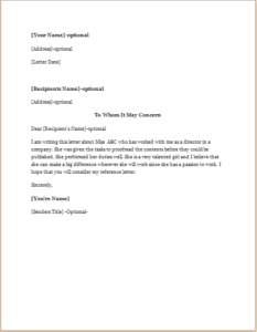 Reference Letter For A CoWorker Download At HttpWriteletter