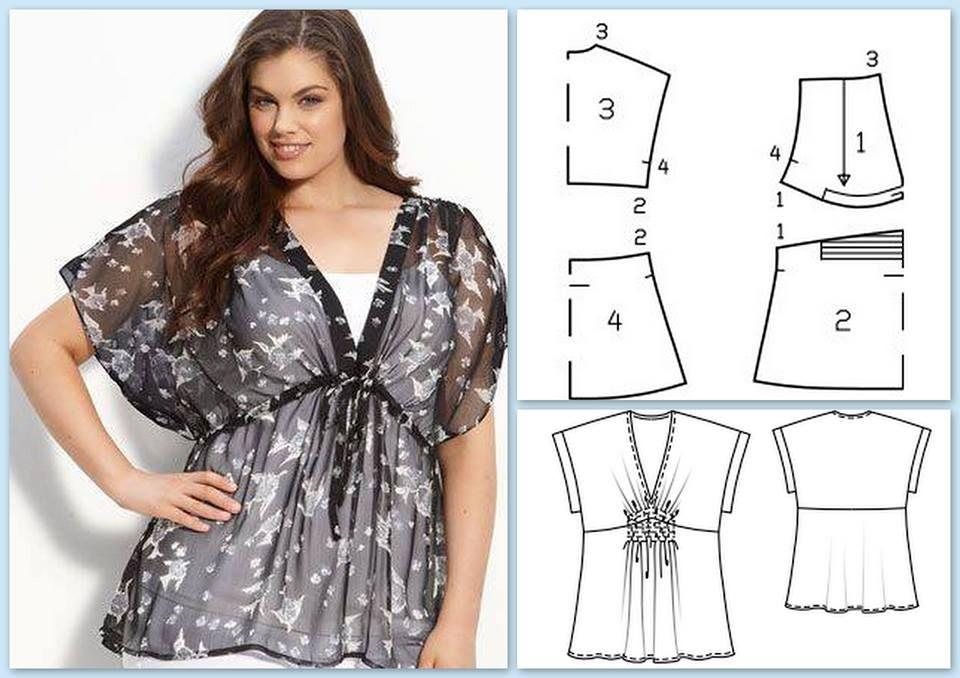 Moldes gratis blusas para gorditas - Imagui | ropa | Pinterest ...