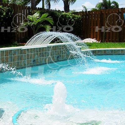 Cascada artificial cascada tipo chorros indiviaduales for Cascadas artificiales de agua para piscinas