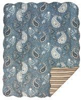 Blue Paisley Reversible Quilt