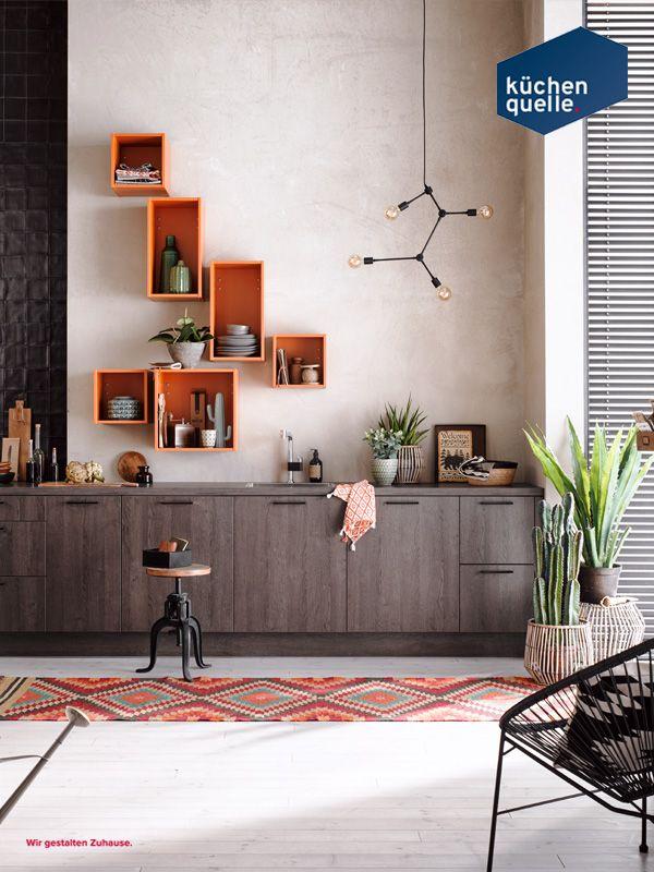 Holz ist endlich zurück! Die modernen matten Fronten in Eiche - www küchen quelle de