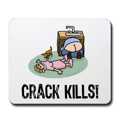 Crack Kills Funny Mousepad Education Funny Funny Greeting