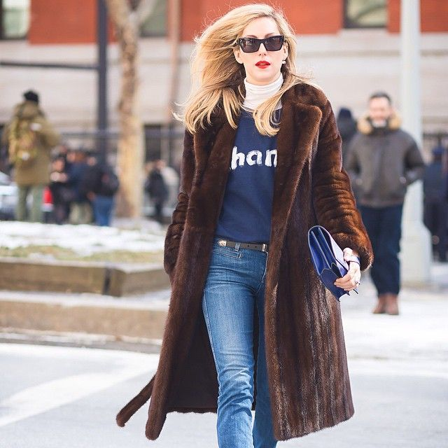 New York Fashion Week FW 2015 Street Style: Joanna Hillman. Joanna Hillman, Style Director at Harpers Bazaar, before The Row fashion show. 19 Feb 2015