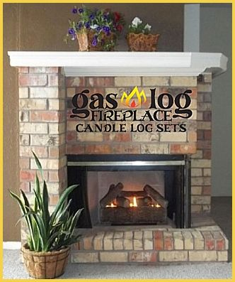 Enjoy your fireplace year round without the heat or messy clean up with Gas Log Fireplace Candle Log Sets.