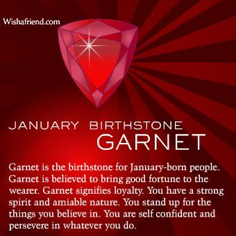 What Is The January Birthstone Find Out More About The January Birthstone Garnet And Its Meaning January Birth Stone Zodiac Capricorn Birthstones