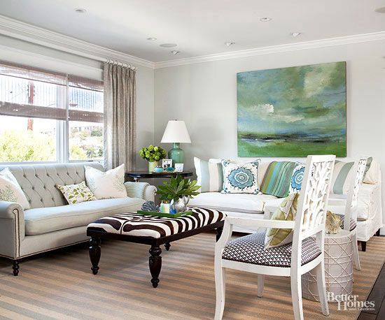 Green Living Room Ideas For Soothing Sophisticated Spaces: BHG's Best DIY Ideas