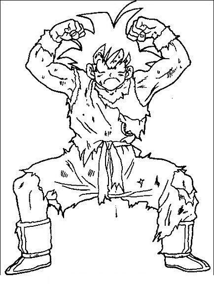 Dragon Ball Z Ausmalbilder. Malvorlagen Zeichnung druckbare nº 18 ...