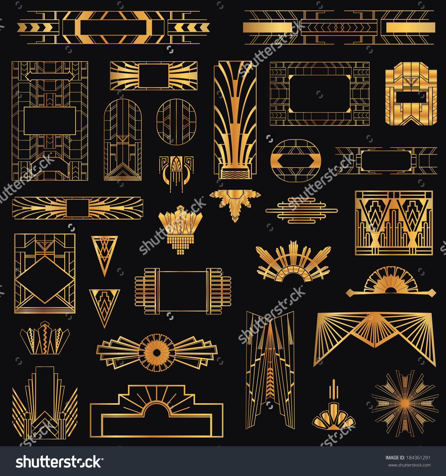 Art deco elements graphic designs google search art for Art deco interior design elements