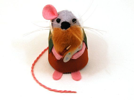 Van Gogh Mouse ornament funny cute felt artist mouse mice rat gift for animal art lover or collector - MADE TO ORDER