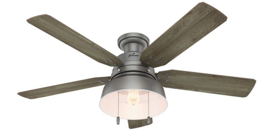 Industrial And Rustic Design Come Together On The Mill Valley With Details Including Vintage Style Silver Ceiling Fan Black Ceiling Fan Ceiling Fan With Light