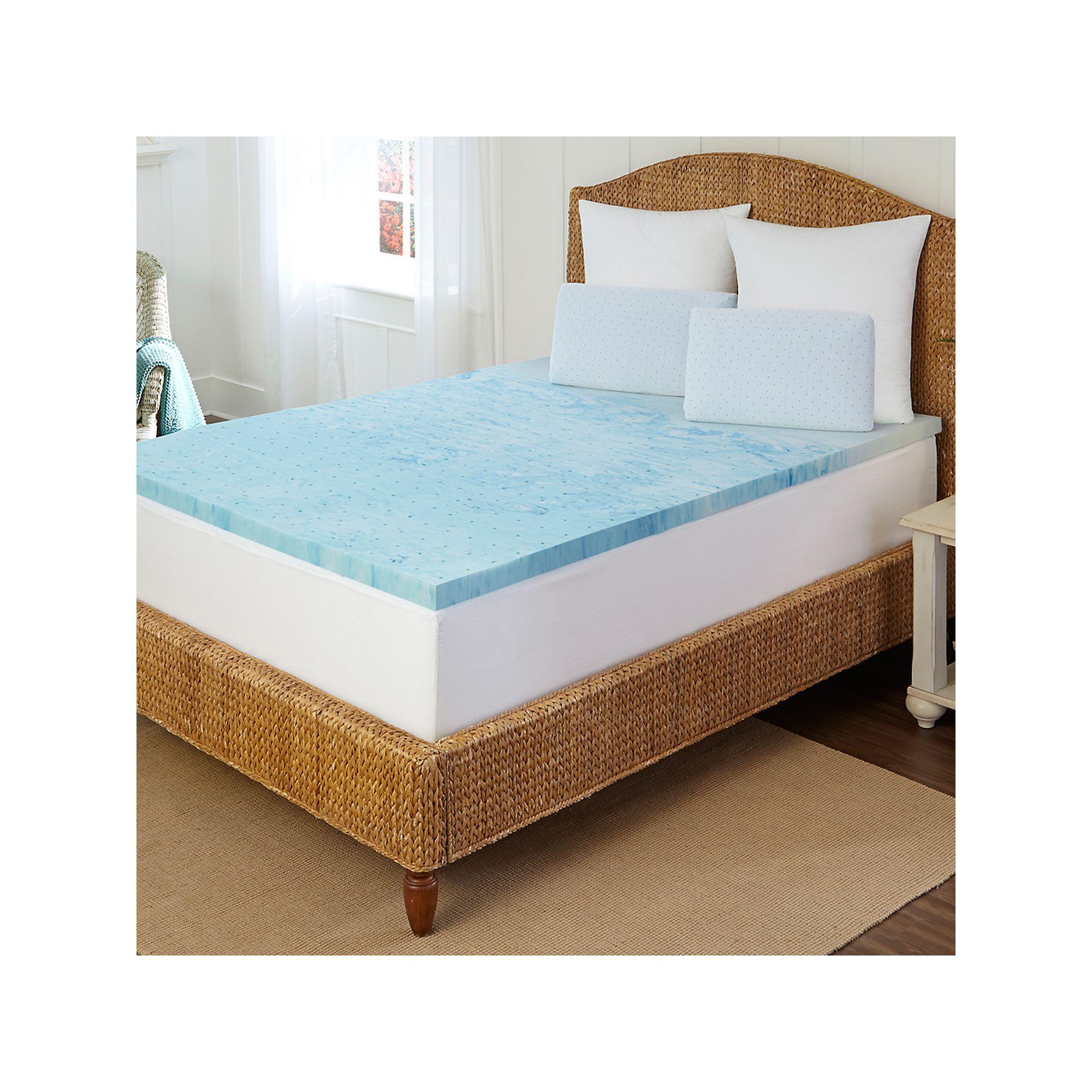 Arctic Sleep By Pure Rest 2 In Marbleized Gel Memory Foam Mattress Topper Blue Memory Foam Topper Gel Memory