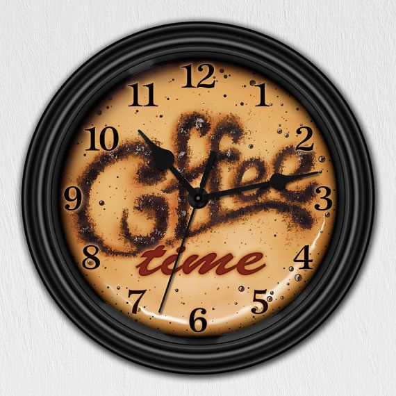 coffee time cappuccino decorative wall clock