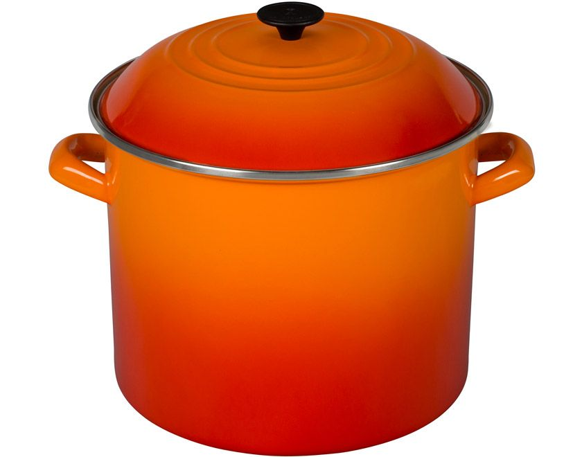 Le Creuset Stockpot Flame Enameled Cast Iron Cookware Le