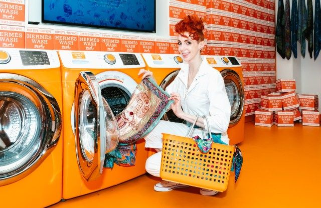 Hermes Wash And Wear Scarf Pop Up Visual Merchandising Fashion