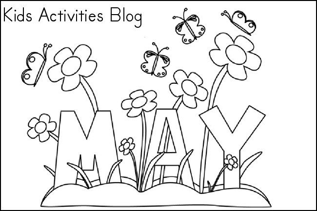 Coloring Pages For The Month Of May Free Printable Coloring