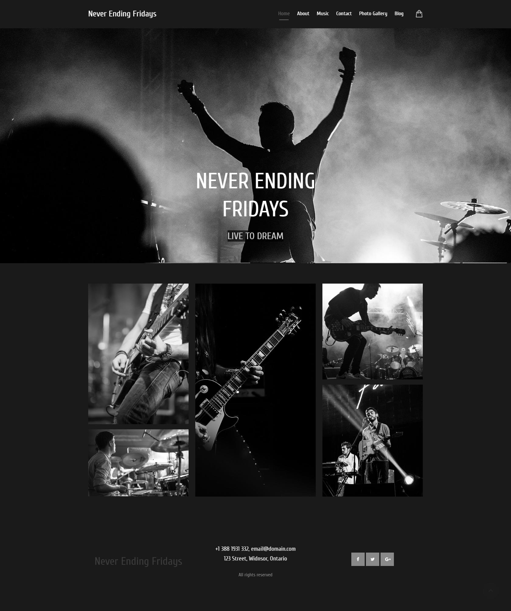 Rock Band Website Design Idea Band Website Website Design Website Design Inspiration