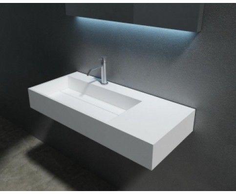 Wasbak 90 Cm : Solid surface wastafel cm kamar mandi solid