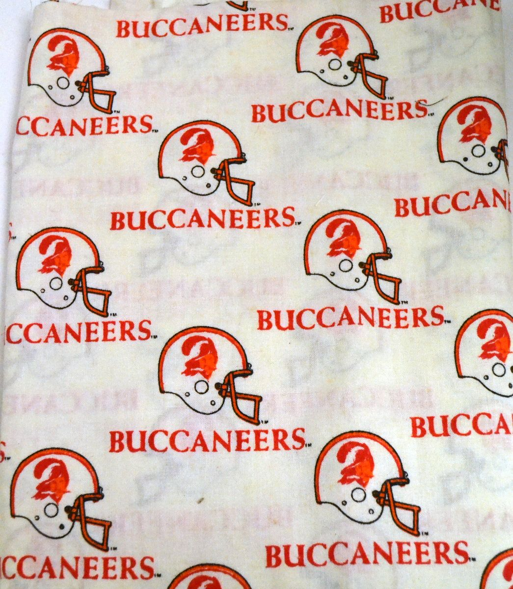 Fabric Tampa Bay Buccaneers Remnant Yard Nfl Licensed Fabric 60 Inches Wide By Goofingoffsewing On Etsy Quilts Fabric Tampa Bay Buccaneers