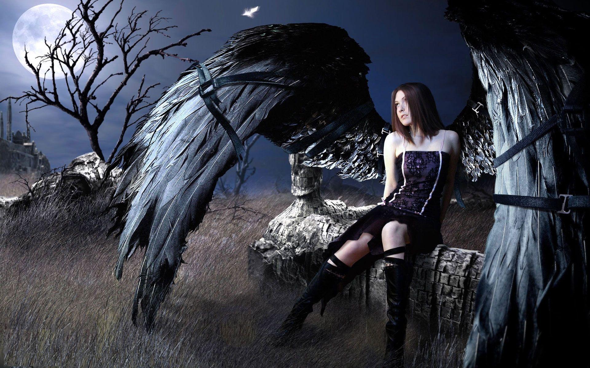 Angel black bondage