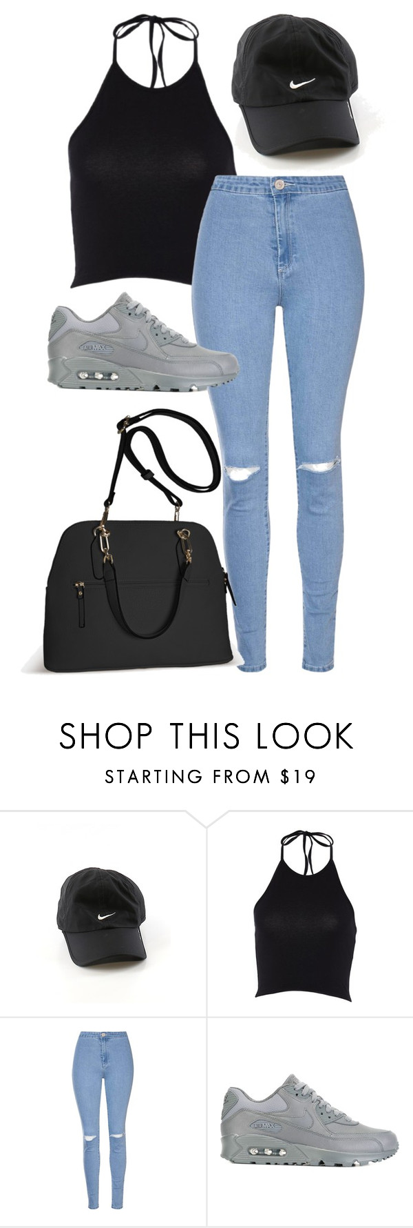 """Untitled #255"" by xkayana-jacksonx ❤ liked on Polyvore featuring NIKE, Glamorous and Avenue"