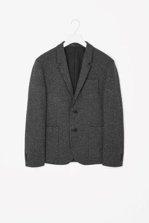 Speckled melange blazer