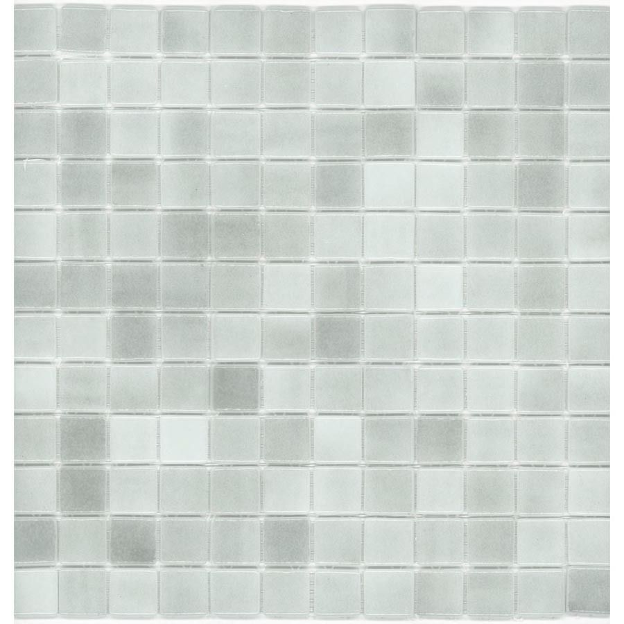 Shop Elida Ceramica 12 1 2 In X 12 1 2 In Gray Ice Glass Mosaic Square Wall Tile Actuals 12 1 2 In X 12 1 2 In At Lowes Com With Images Glass Mosaic Tiles