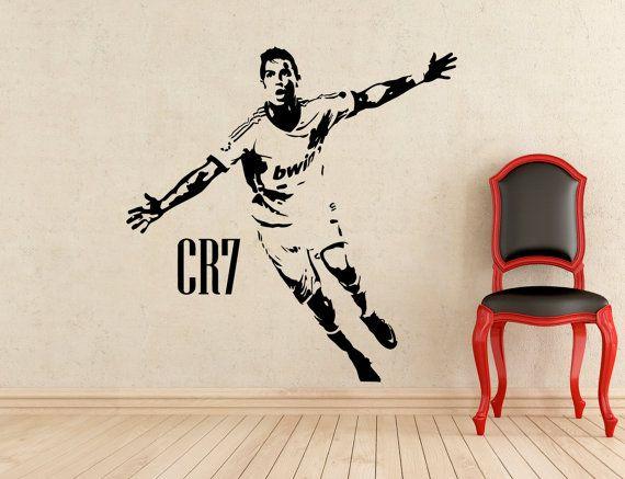 Real Madrid Cristiano Ronaldo Wall Decal Decor Stickers Vinyl Sport