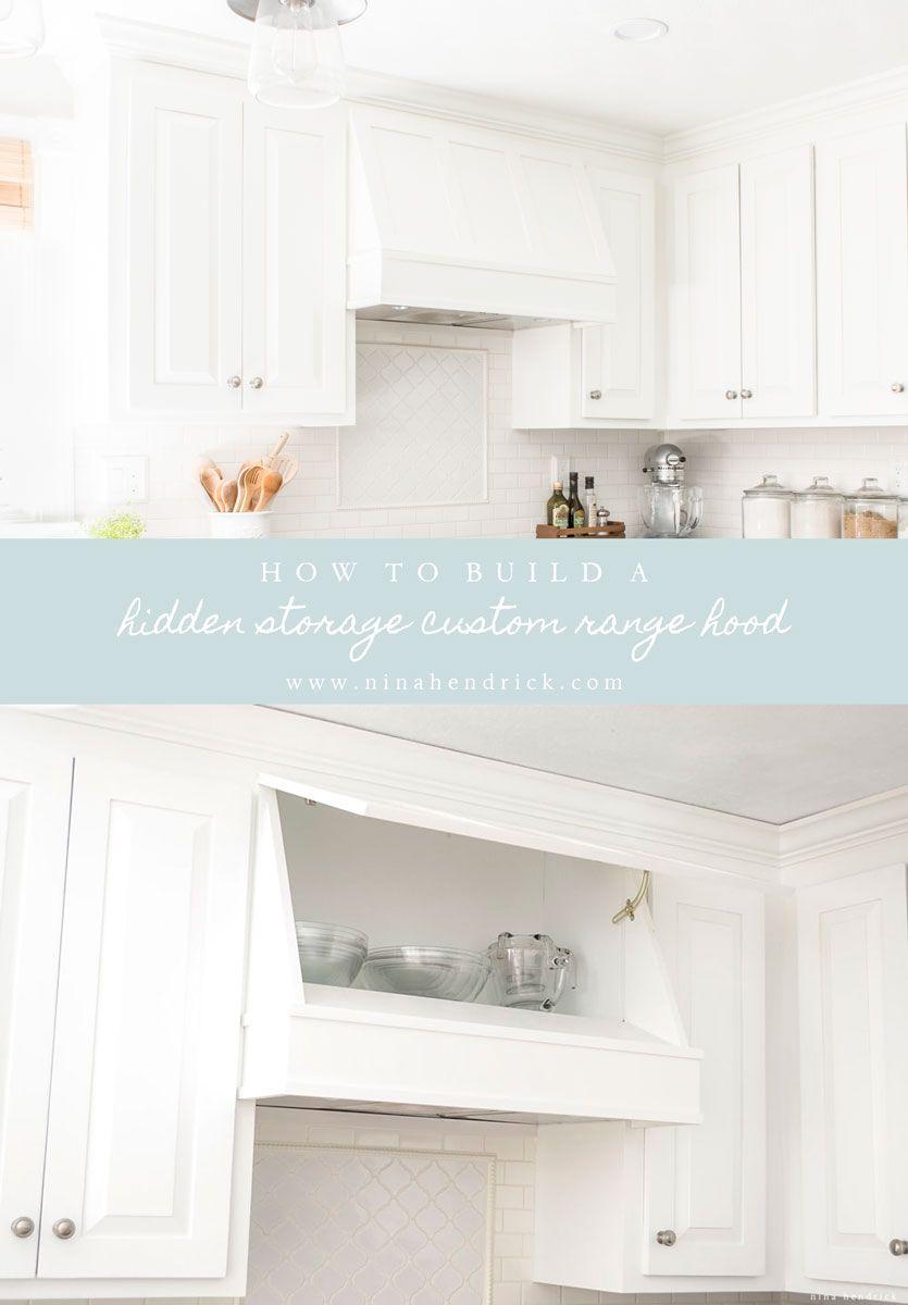 DIY Storage Range Hood Custom Vent Cover Tutorial | Pinterest