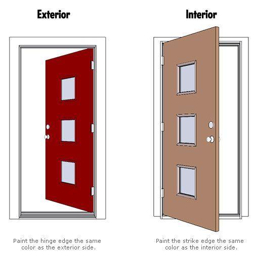 Charming Crestview Doors   How To Paint Your Door Two Colors: (Dang IT! I Needed  This) Hinge Edge U003d Exterior Color Strike Edge U003d Interior Color
