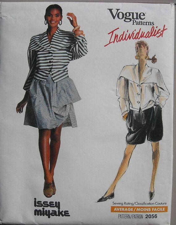 Issey Miyake Vintage 80s Vogue 2056 Top Skirt By Omasbricabrac 130 00 Favorite Fashion Designer Vogue Patterns Issey Miyake