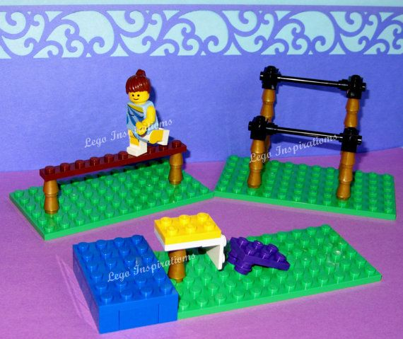 Lego Custom Gymnastic Set *** Uneven Parallel Bars