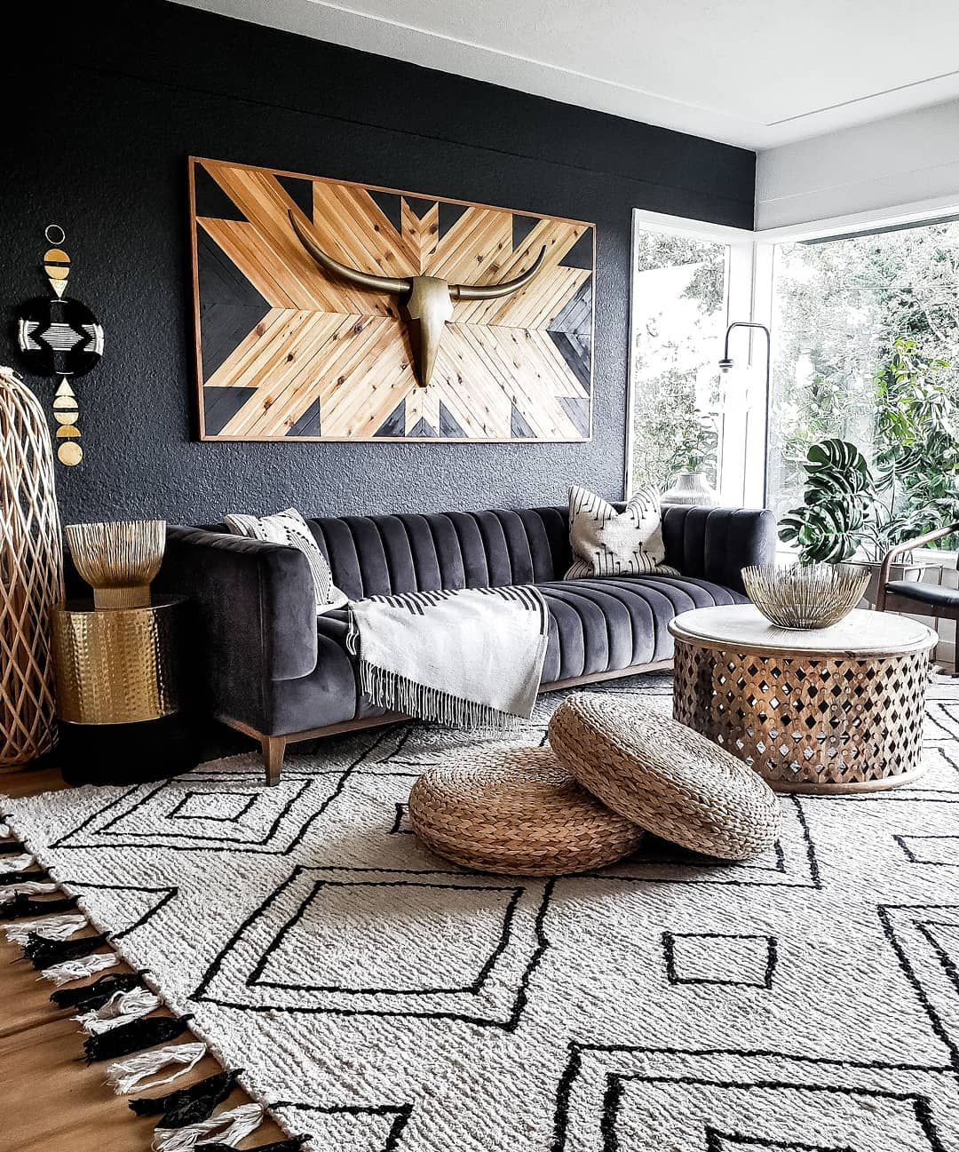 Pin By Camo Country Customs Children On Bohemian African Home Decor Stylish Living Room Living Room Reveal