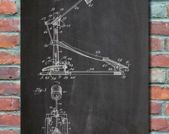 Drum kick pedal patent art print patent art blueprint patent drum kick pedal patent art print patent art blueprint patent print patent malvernweather Image collections