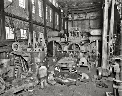 Wyandotte Michigan Circa 1912 Detroit Ship Building Co