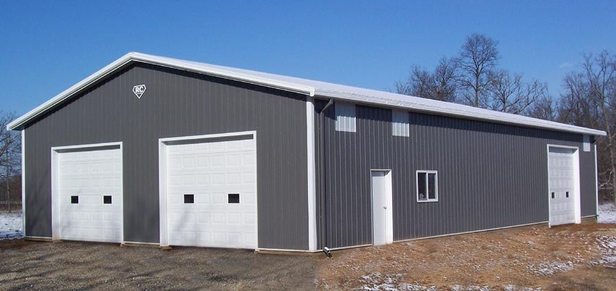 White Metal Garage : Pictures dark gray house white trim on roof